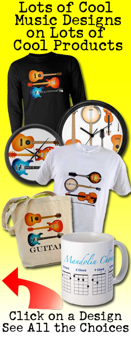 Tshirts, clocks, mugs, acoustic music products store