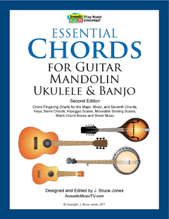 Essential Chords 2nd edition, guitar, mandolin, ukulele and banjo