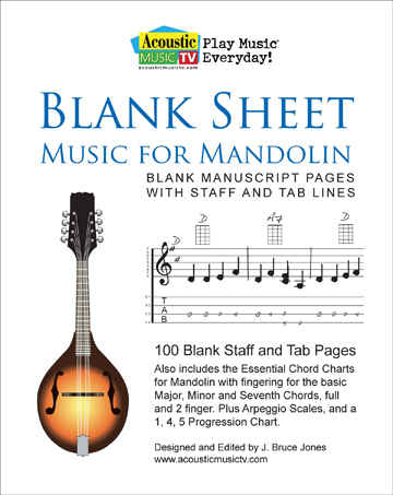 Blank Sheet Music for Mandolin