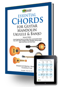 IPad, essential Chords, guitar, mandolin, ukulele and banjo