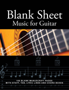 blank sheet music for guitar, chord boxes