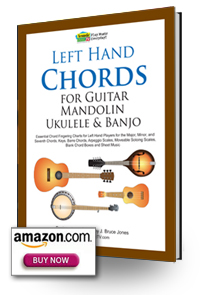 Lefthand chords for guitar, mandolin, ukulele and banjo