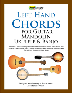 Left Hand Chords, Guitar, Mandolin, Ukulele, Banjo
