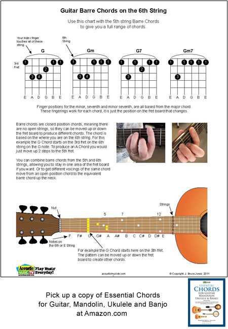 guitar barre chords on 6th string acoustic music tv. Black Bedroom Furniture Sets. Home Design Ideas